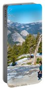 Hiking On Barren Rock On Sentinel Dome In Yosemite Np-ca Portable Battery Charger