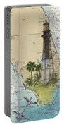 Hillsboro Inlet Lighthouse Fl Cathy Peek Nautical Chart  Portable Battery Charger