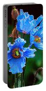 Himalayan Blue Poppy Flower Portable Battery Charger
