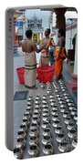 Hindu Priests Prepare Offering To Gods Portable Battery Charger