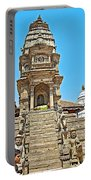 Hindu Temples In Bhaktapur Durbar Square In Bhaktapur-nepal Portable Battery Charger