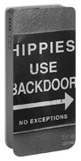 Hippies Use Back Door Portable Battery Charger