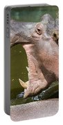 Hippopotamus With Open Mouth Portable Battery Charger