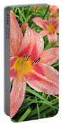 Hiroko Pink Daylily Portable Battery Charger