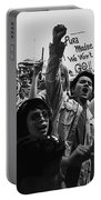 Hispanic Anti-viet Nam War Rally Tucson Arizona 1971 Black And White Portable Battery Charger