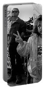 Hispanic Protestor Winston Churchill Victory Finger Sign Anti-gulf War Rally Tucson Arizona 1991 Portable Battery Charger