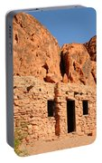 Historic Civilian Conservation Corps Stone Cabins In The Valley Of Fire Portable Battery Charger