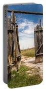 Historic Fort Bridger Gate - Wyoming Portable Battery Charger