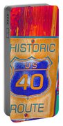 Historic Route 40 Pop Art Portable Battery Charger
