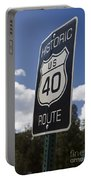 Historic Route Us 40 Sign Portable Battery Charger