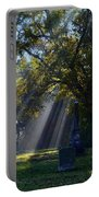 Historic Sibley Cemetery At Fort Osage Missouri Portable Battery Charger