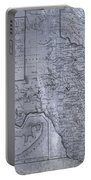 Historic Texas Map Portable Battery Charger