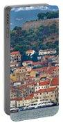 Historic Town Of Sibenik Panorama Portable Battery Charger