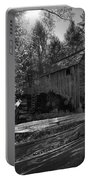 Historical 1868 Cades Cove Cable Mill In Black And White Portable Battery Charger