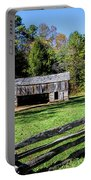 Historical Cantilever Barn At Cades Cove Tennessee Portable Battery Charger by Kathy Clark