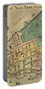 Historical Manhattan Map 1728 Portable Battery Charger