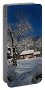 Historical Society House In The Snow Portable Battery Charger