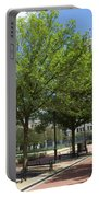 Lincoln Square Springfield Il - Luther Fine Art Portable Battery Charger