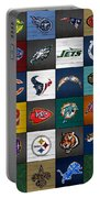 Hit The Gridiron Football League Retro Team Logos Recycled Vintage License Plate Art Portable Battery Charger