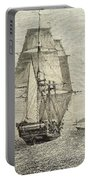 Hms Beagle In Phosphorescent Sea Portable Battery Charger