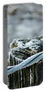 Hoar Frost At Sun Up Portable Battery Charger