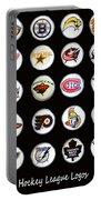 Hockey League Logos Bottle Caps Portable Battery Charger