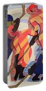 Hockey Players Portable Battery Charger by Ernst Ludwig Kirchner