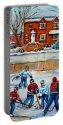 Hockey Rink At Van Horne Montreal Portable Battery Charger