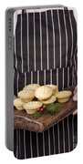 Holding Mince Pies Portable Battery Charger
