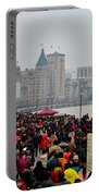 Holiday Crowds Throng The Bund In Shanghai China Portable Battery Charger