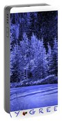 Holiday Greetings - Vail - Colorado Portable Battery Charger