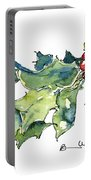 Holiday Holly Portable Battery Charger