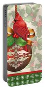 Holly And Berries-b Portable Battery Charger