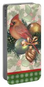 Holly And Berries-c Portable Battery Charger
