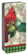 Holly And Berries-d Portable Battery Charger