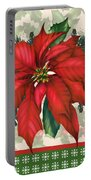 Holly And Berries-h Portable Battery Charger