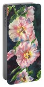 Mom's Hollyhocks  Portable Battery Charger