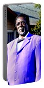 Hollywood Wearing His Dress Suit And Bow Tie Color Photo Usa Portable Battery Charger