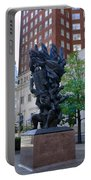 Holocaust Memorial Statue - Philadelphia Portable Battery Charger