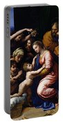 Holy Family Known As The Grande Famille Of Francois I, 1518 Oil On Canvas Portable Battery Charger