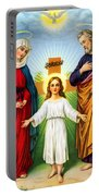 Holy Family With Cross Portable Battery Charger