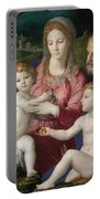 Holy Family With St. Anne And The Infant St. John Portable Battery Charger