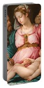 Holy Family With The Infant Saint John The Baptist And Saint Francis Portable Battery Charger by Giorgio Vasari