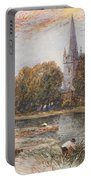 Holy Trinity Church On The Banks If The River Avon Stratford Upon Avon Portable Battery Charger