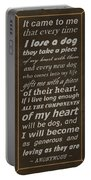 Homage To The Dogs In Our Lives Portable Battery Charger