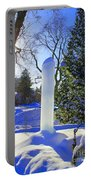 Homage To Winter In The City Portable Battery Charger