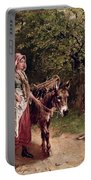 Home From Market Portable Battery Charger by Edgar Bundy