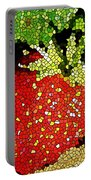 Homegrown Strawberry Mosaic Portable Battery Charger