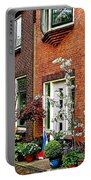 Homes Along The Canal In Enkhuizen-netherlands Portable Battery Charger