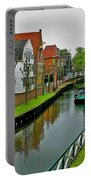 Homes Near The Dike In Enkhuizen-netherlands Portable Battery Charger